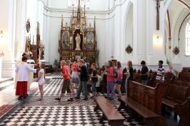 Msza św. w Pabianicach, w drodze na Pomorze