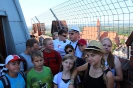 na wieży fary w Chełmnie