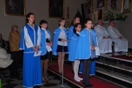 krucjatki przed śpiewem psalmu