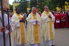 księża proboszczowie z gościem z Ugandy
