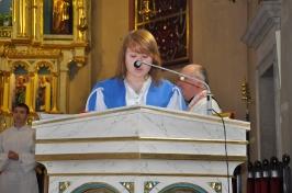 Łucja czyta modlitwę wiernyc