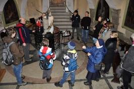 modlitwa w Piwnicy Pałacu Kajfasza