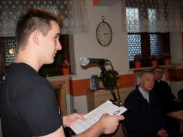 prezentacja pracy Domu Katolickiego przez Karola Ralskiego