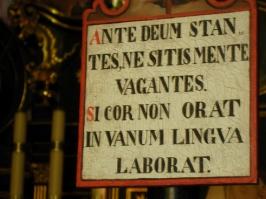 w oratorium zakonnym