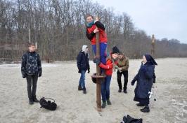 s. Beata z młodzieżą w Sopocie w 2014 roku